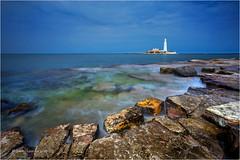 St. Mary's Lighthouse (Sandra Lipproß) Tags: leelittlestopper stmaryslighthouse lighthouse northumberland england uk landschaft landscape seascape coast küste nature outdoor greatbritain whitleybay
