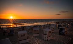 Sonnenuntergang in Westerland, Sylt