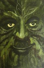 Green Man III (Ronald Hackston) Tags: painting drawing art trees vegetation green man pagan god greenman thegreenman folklore folk folkhorror