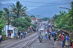 Gurue town after the rain.