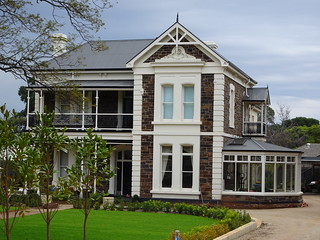 Myrtle Bank. Beautiful South Australian bluestone two storey house renovated.