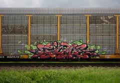 Time (quiet-silence) Tags: graffiti graff freight fr8 train railroad railcar art time fst autorack ttx ttgx982578