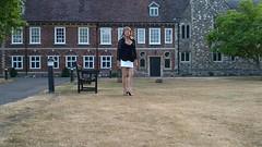 At Hall Place (TV/CD) (Kim Westone) Tags: tv transvestite cd crossdresser microskirt miniskirt stiletto stockings