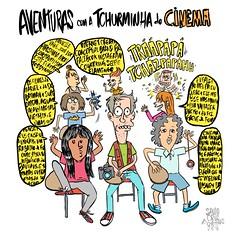 Tchurminha do Cinema (Saulo Cruz) Tags: fotografiadecinema cartoon sketch draw desenho colors nerds freaks juventude garotos garotas meninos meninas criançada batepapo intelectual intelectuais fototiras ipad sketchbook