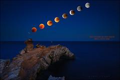 Red eclipse of the moon (carmenvillar100) Tags: redeclipseofthemoon eclipserojodelaluna capmartinet ibiza eivissa moon moonrise lunallena luzdeluna moonlight redmoon horaazul