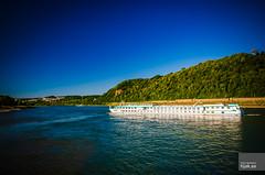 Switzerland river cruise ship heads north on the Rhine (hjakse) Tags: koblenz tyskland germany deutschland rheinlandpfalz brd deutscheseck mosel rhein rhine rhen