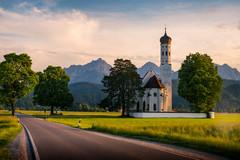 St. Coloman Church | Schwangau, Germany (NicoTrinkhaus) Tags: church bavaria germany schwangau landscape nature sunlight stcoloman baroque roadtrip