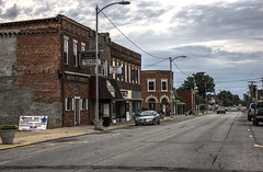 Johnston City, IL 05 (Christopher Elliot Taylor) Tags: 3052 outdoors road street smalltownamerica mainstreetusa buildings architecture travel tourism johnstoncityillinois southernillinois illinois places sky cloudy canont1i affinityphoto hdr