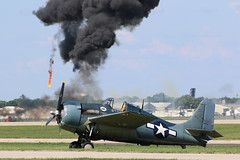N551TC, Grumman FM-2 Wildcat, Oshkosh 2018 (ColinParker777) Tags: n551tc grumman fm2 wildcat us navy united states aircraft airplane fighter military war plane aviation ww2 wwii world carrier naval radial prop explosion explode bomb fire oshkosh whitman field kosh osh airventure eaa experimental association 2018 smoke canon usa america airshow display 7d 7d2 7dmkii 7dmk2