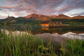 Calm morning at lake Kochelsee
