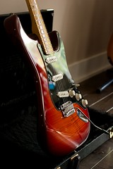 Fender Player Stratocaster Reflections (Netto.Alex) Tags: guitar fender player stratocaster mexico flamed maple top red neck stings instrument modern canada nikon d7100 indoo cherry