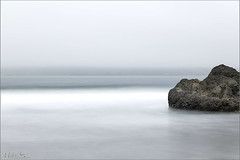 Cloudy Beach - [Minimum] (milton sun) Tags: beach clouds fog longexposure seascape bay ngc bayarea wave ocean shore seaside coast california pacificocean landscape outdoor sky water rock sea sand cliff nature minimal minimalism
