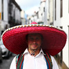 Um-bro-so (Elios.k) Tags: square outdoors people oneperson man sombrero traditionaldress azorean portrait streetphotography local shade smile friendly vest strawhat bighat stranger dof depthoffield focusinforeground backgroundblur bokeh city background houses buildings colour color ilheverde travel travelling june2017 summer vacation canon 5dmkii photography island saomiguel acores pontadelgada azores portugal europe
