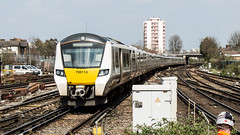 700114 (JOHN BRACE) Tags: 2014 siemens krefeld germany built desiro city class 700 emu 700114 seen east croydon thameslink livery