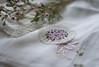 Handmade (Captured Heart) Tags: handmade embroidered violets handkerchief