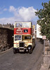 O-Top DCS616 leaves Stirling Castle . Sep'88 (David Christie 14) Tags: a1service dainlercvd6 opentop stirling