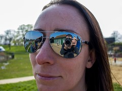 Ray-Ban Reflections (CJD imagery) Tags: 7dwf canonefs1855mmf3556isstm canoneos80d reflections portrait sunglasses polarized rb8313 rayban promenadepark essex maldon england gb greatbritain uk unitedkingdom