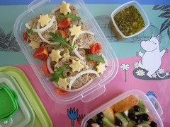 Bento 571 (Sandwood.) Tags: bento lunch lunchbox cooking food meal dish dumplings salad cheese vegetables meatfree fruit