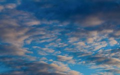 Favorite Part of my Day (katyearley) Tags: 55mm canonrebelt6 fluffy clouda blue orange sunset clouds