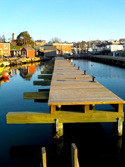 No railing. Long pier. (desert11sailor) Tags: gloucester massachusetts harbor morning seaport ocean