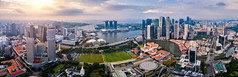 Aerial view of the Singapore landmark financial business district at sunrise scene with skyscraper and over clouds. Panorama of Singapore downtown. (MongkolChuewong) Tags: aerial aerialview architecture asia bay building business city cityscape district dome downtown drone exterior famous ferris flyer garden hotel landmark landscape laser light marina night panorama park river sands sea show singapore singaporecity singaporean sky skyline skyscraper southeastasia sunrise sunset tourism tower travel traveler twilight urban view water waterfront wheel sg