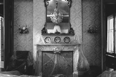 mimesis. (jonathancastellino) Tags: set series mimesis leica q wrap cover mantel mirror reflection chandelier room plate ornate display
