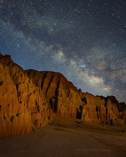 Milky Way Over Eroded Hills