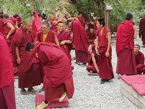 Debating of the monks at Sera Monastery, near Lhasa (5)