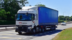 MX66 EAK (Martin's Online Photography) Tags: renault series t truck wagon lorry vehicle freight haulage commercial transport a580 leigh lancashire nikon nikond7200