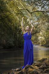 Giana (Bruno_Caimi) Tags: girl mulher garota menina loira blueeyes woman flat river water água rio natureza nature
