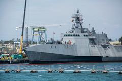 14 (benakersphoto) Tags: boat ship ocean navy military california sandiego port docks dock 14 blue colorful telephoto nikon nikkor july coast digital day