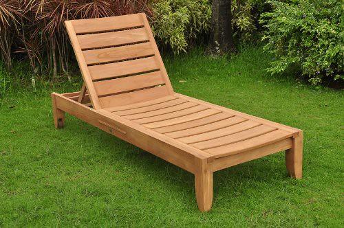 Cheap TeakStation Grade-A Teak Wood Luxurious Multi Position Atnas Sun Chaise Lounger Steamer – Furniture Only #TSCHAT