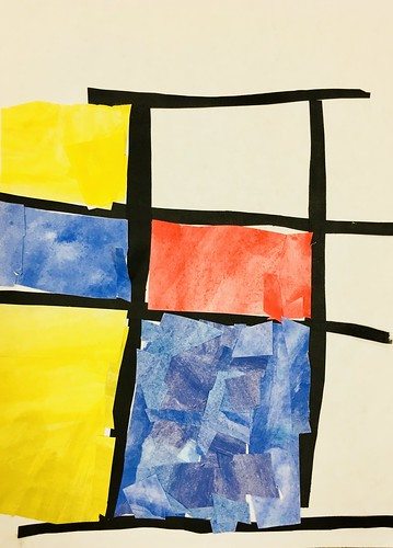 """Every year I get new favorites with this #kindergarten #pietmondrian  inspired painted paper gridded #collage ❤️❤️  They have such an amazing lyricism at this age that I admire so much. Want em all! • <a style=""""font-size:0.8em;"""" href=""""http://www.flickr.com/photos/57802765@N07/42086990470/"""" target=""""_blank"""">View on Flickr</a>"""