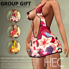 HEC (WOMENSTUFF GROUP GIFT) • DIA Floral Summer Mini-Dress GIFT ADFL-100 (hec-fashion) Tags: hec hotelegantclothing hot elegant clothing mesh fitmesh fashion sl secondlife dress mini belleza maitreya slink ebody floral summer womenstuff gift
