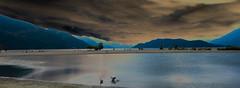 Evening at Harrison Lake_ (Gene Mordaunt) Tags: harrisonlake lake water abstract mountains sunset britishcolumbia canada nikon810 sky beach