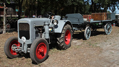 Deutz Tractor (Schwanzus_Longus) Tags: german germany eystrup old classic vintage vehicle machine farm farming tractor trailer deutz f3m417