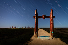 Some photos take longer than others (ajecaldwell11) Tags: startrail xe3 hawkesbay newzealand pou ankh astrophotography stars napier sky ateaarangi celestialcompass caldwell fujifilm light