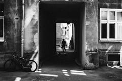 Home Sweet Home 326.365 (ewitsoe) Tags: canoneos6dii city warszawa erikwitsoe summer urban warsaw monochrome bnw blackandwhite apratemnts mono apartmentshome housing mna shadow silhouette shade bike carner building older