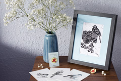 New shops! (Girl With Butterfly Wings) Tags: art gifts stationery bird birds cardinal cardinalartuk pin badge enamel pins accessories prints postcards drawings sketches illustration