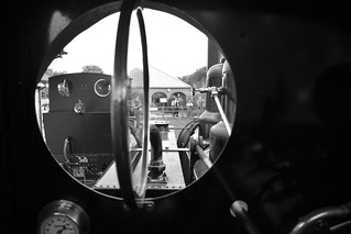 The Firemans view. Baldwin Locomotive No.778, at the Apedale Light Railway, Tracks to the Trenches 14 07 2018