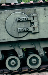 Tracks (peterphotographic) Tags: olympus em5mk2 microfourthirds ©peterhall normandy normandie france p5250606ed1cb2parisedwm muséemémorialdelabatailledenormandie bayeux dday normandylandings tank churchill track green military overlord wheel circle museum camerabag2