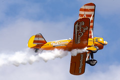 DSC_9702 copy (quintinsmith_ip) Tags: aerosuperbatics flyingcircus 'superstearmans stearmans plane formation flight smoke smoking orange white wingwalkers sunderland 2018