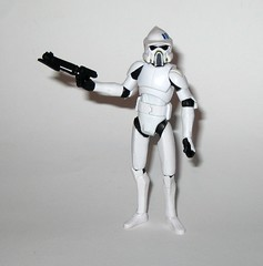 arf trooper star wars the clone wars cw18 blue black packaging basic action figures 2010 hasbro 3k (tjparkside) Tags: arf trooper troopers star wars clone blue black packaging card cardback cw18 cw 18 2010 hasbro basic action figure figures soldier republic army display stand base galactic battle game advanced reconaissance fighter fighters atrt rt all terrain recon transport blaster pistol rifle weapon weapons chaingun projectile missile tcw