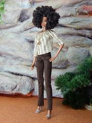 Boho Days – the brown faux suede pants (Levitation_inc.) Tags: ooak doll dolls clothes handmade fashion fashions royalty nuface integrity toys levitationfashion etsy barbie barbiestyle poppy parker summer boho 2018