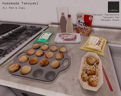 Homemade Takoyaki (Lydia Alberti) Tags: secondlife lumino clutter marketplace takoyaki japanese food okonomiyaki bonito flakes seaweed octopus mayonnaise