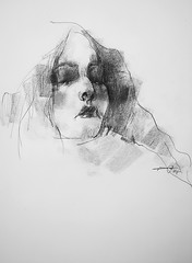 P1018476 (Gasheh) Tags: art painting drawing sketch portrait girl line pen charcoal gasheh 2018
