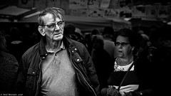 Husbands and wives. (Neil. Moralee) Tags: middevonshow2018neilmoralee neilmoralee man woman mature old character faces people married couple trouble dispute relationship love romance pair two farmer partner communication black white bw bandw blackandwhite neil moralee nikon d7200 candid anger divorce fight argue devon mid show tiverton