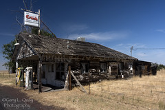 Crush, Central Oregon (Gary L. Quay) Tags: shaniko crush gasstation centraloregon oregon central 97 west abandoned gas station august 2018 shanikodays oldwest ghosttown ghost town gary quay garyquay nikon d810