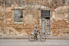 Cyclist on Mozambique Island.