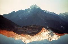 (castles of forrestry) Tags: canonef expired superia fujifilm doubleexposure namche nepal khumbu beyul thamserku kongderi hypoxia dreamscape ommanipadmehum